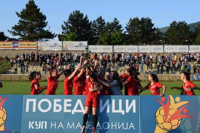 ЖФК Тиверија - победици во Куп на Македонија сезона 2017-18