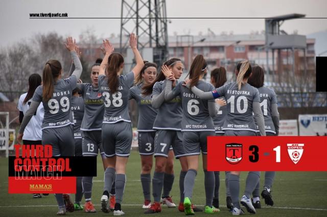 ЖФК Тиверија (екипа) - ЖФК Борец, контролка во Струмица 2021 -1